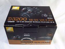 NEW Nikon D3200 & VR II 18-55mm G Lens - DSLR Camera Black. + Bonus Kit