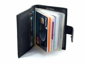 New Black Leather Men's Small RFID Slim Bifold Wallet Credit Card ID Holder