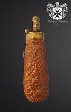 19th Century French Powder Flask Rare Design