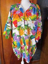Leigh Karmitz Periphery Saks Vtg Large Smock House Jacket Scrub USA Floral
