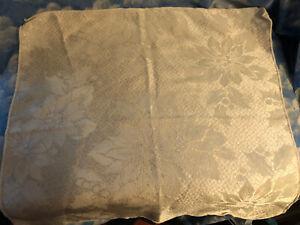 "IVORY COLOR POINSETTIA DESIGN DAMASK  CLOTH NAPKINS SET OF 8  16"" SQUARE"