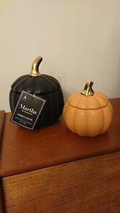 Tk maxx halloween ornaments Martha Stewart Black Pumpkin Candle 🎃 🖤🎃
