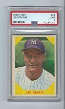 1960 Fleer #28 Lou Gehrig NM 7