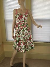 Anthropologie Elevenses Pin-up Style Easter Summer Sweetheart Dress Sz 4 S euc