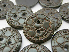 10 Brown Buttons  (21mm) Sewing Clothing Buttons Mens Cardigan Jacket Buttons