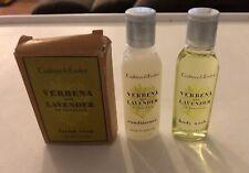 CRABTREE & EVELYN VERBENA LAVENDER Facial Soap Body Wash Conditioner Travel Set