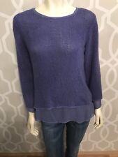 Soft Surroundings Chiffon Layer Sweater Sz XS X Small Long Sleeve Lavender Knit