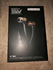 2 Munitio SV bronze mobile performance Earphones with 3 button mic control NEW