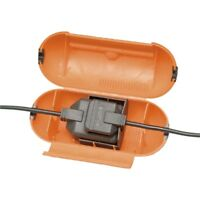 Masterplug Splashproof Plug & One Gang Socket Cover,