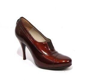 Gibellieri 1795 Rust Patent Shoe-Boots Heels 37.5 / US 7.5