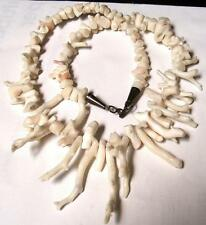 Vintage MID CENTURY CHUNKY ANGEL SKIN BRANCH CORAL NECKLACE-Estate