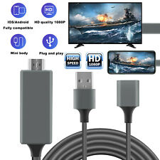 1080P HDMI Mirroring Cable Phone to TV HDTV Adapter For iPhone SE 2/ipad/Android