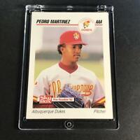 PEDRO MARTINEZ 1992 SKYBOX #5 MINOR LEAGUE ROOKIE CARD ALBUQUERQUE DUKES HOF