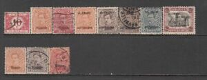 Belgian Occupation of Germany - 11no. different stamps (CV $29)