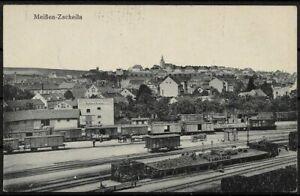 AK Meißen Zscheila - Bahnhof Holz Stein Braunkohle Handlung Richard Liebe rare