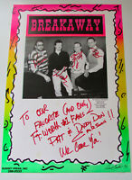Vintage Breakaway Signed Show Concert Poster Rare 90s Taylor, Texas 1991