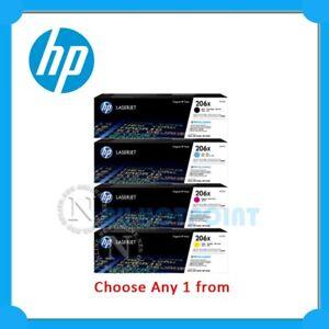 Any 1x HP Genuine #206A BK/C/M/Y Toner for M255dw/M255nw/M282NW/M283fdw/M283fnw