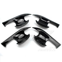 Gloss Black Style Door Handle Bowl Cover Trim Bezel for Toyota RAV4 2019-2020
