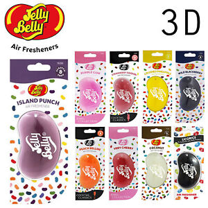 JELLY BELLY AIR FRESHENER ALL 3D FLAVOURS - CHOOSE YOUR FAVOURITES!