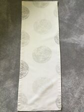 JOHN LEWIS Cream Table Runner, Circle Pattern