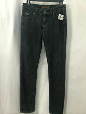 FREE CULTURE DARK DENIM JEANS WITH BLACK RHINESTONES SIZE 0
