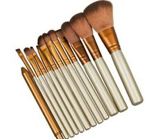 Professional 12 makeup brushes set Foundation blending powder brush with tin box