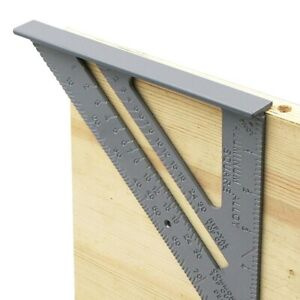Triangle Rule Aluminum Alloy 90 Degree Thickening Angle Carpenter Measurement