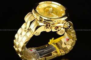 New Invicta Men 52mm Venom Swiss Chrono 18K Triple Gold Plated 1000M Diver Watch