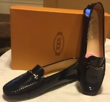 e76441a52ff Tod s Gommini Driving Moccasin Navy Patent Leather Loafer flats BNIB Retail  695