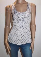 Dotti Brand Grey Floral Frill Elastic Waist Cami Top Size 8 BNWT #SE61