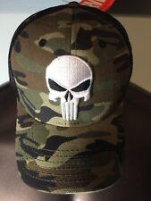 The PUNISHER Marvel COMIC Book SKULL movie MEN'S New Snapback CAMO HAT Cap