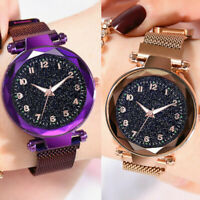 Ladies Watch Starry Sky Women Bracelet Watches Magnetic Luminous Wrist Watches