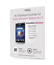 4x Displayschutzfolie für Sony Ericsson Xperia Arc und Arc S Display Folie Clear
