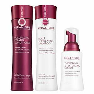 Keranique 60 Day Hair Thickening Kit | Shampoo Conditioner and Texturizing Mo...