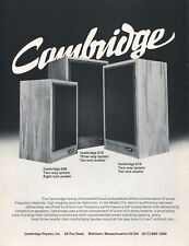 Cambridge 310, 210, 208 Original Speaker Brochure
