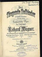 Richard Wagner ~ Der fliegende Holländer ~ Klavierauszug mit Text in D und I