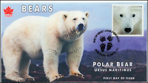 CA19-026, 2019, Canadas Bears, Pictorial Postmark, First Day Cover, Polar Bear