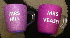 Handmade Mugs Glasses with Glitter