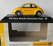 VW VOLKSWAGEN NEW BEETLE Deutsche Post Schuco 1/43 DIECAST Nuovo di zecca con scatola