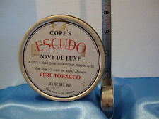 Empty Vintage English Cope's Escudo Navy De Lux Tobacco Tin As Shown in Pics