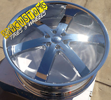 "24"" INCH U2 RIMS U2-55 CHROME WHEELS & TIRES FOR NISSAN ARMADA INFINITI QX-56"