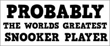 Joueur de billard-mondes plus-Vinyle autocollant cue / ball themed 24 cm x 10 cm