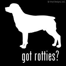 GOT ROTTIES? ROTTWEILER ROTTIE DOG DECAL - DOGS STICKER