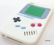 iPod Touch 4th Gen - SOFT SILICONE RUBBER GUMMY CASE COVER WHITE GAMEBOY PLAYER