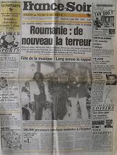 ▬► Journal France Soir 15/06/1990 Michel Sardou Eros Ramazotti Jean Simmons