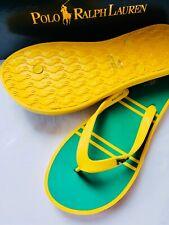 NEW Polo Ralph Lauren FLIP-FLOPS sneakers shoes sandals Yellow green 9 11 NIB