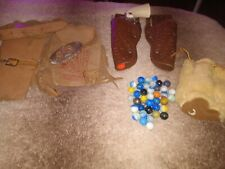 New ListingVintage Toys cap guns and holsters and indian bag and marbles lots