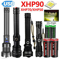 Details about  /990000Lumens XHP70 USB Rechargeable Flashlight Zoom Super Bright Torch Lamp USA
