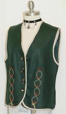 GREEN ~ LINEN / Women German Trachten Hunting Riding Dress Skirt VEST/Eu 40/10 M