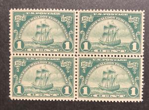TDStamps: US Stamps Scott#614 Mint NH OG Block of 4